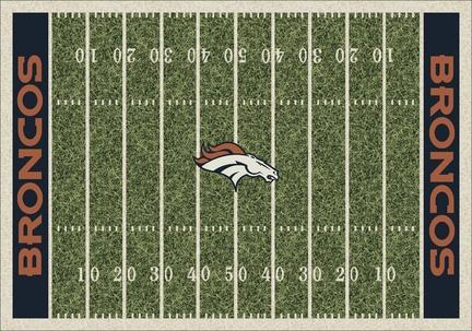 """Denver Broncos 5' 4"""" x 7' 8"""" NFL Home Field Area Rug"""