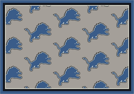 "Detroit Lions 7' 8"" x 10' 9"" Team Repeat Area Rug (Gray)"