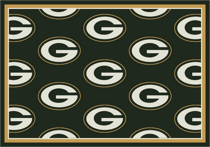 """Green Bay Packers 7' 8"""" x 10' 9"""" Team Repeat Area Rug (Green)"""