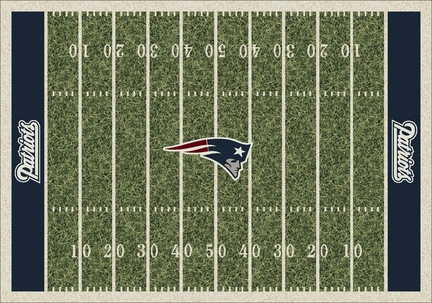 """New England Patriots 7' 8"""" x 10' 9"""" NFL Home Field Area Rug"""