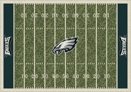 "Philadelphia Eagles 7' 8"" x 10' 9"" NFL Home Field Area Rug"