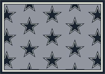 """Dallas Cowboys 5' 4"""" x 7' 8"""" Team Repeat Area Rug (Gray)"""