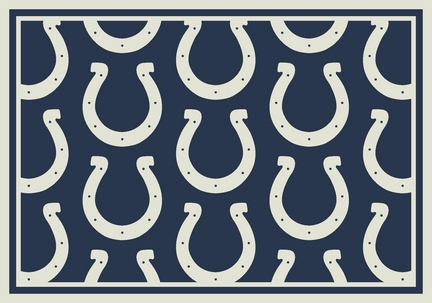 """Indianapolis Colts 7' 8"""" x 10' 9"""" Team Repeat Area Rug (Blue)"""