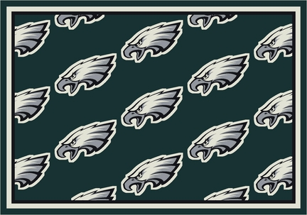 "Philadelphia Eagles 3' 10"" x 5' 4"" Team Repeat Area Rug (Green)"