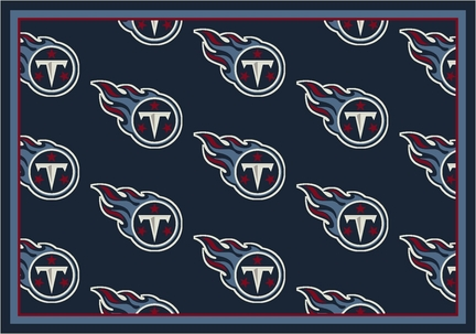 Tennessee Titans 5 ft 4 in x 7 ft 8 in Team Repeat Area Rug (Navy Blue)