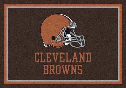 """Cleveland Browns 7' 8"""" x 10' 9"""" Team Spirit Area Rug (Brown)"""