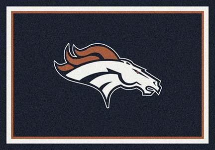 """Denver Broncos 3' 10"""" x 5' 4"""" Team Spirit Area Rug (Navy Blue)"""