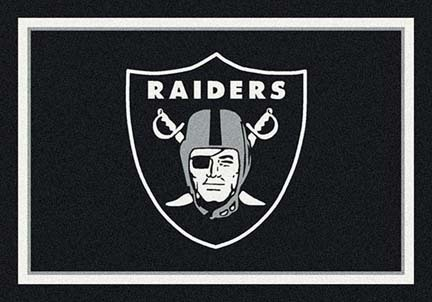 "Oakland Raiders 3' 10"" x 5' 4"" Team Spirit Area Rug (Black)"