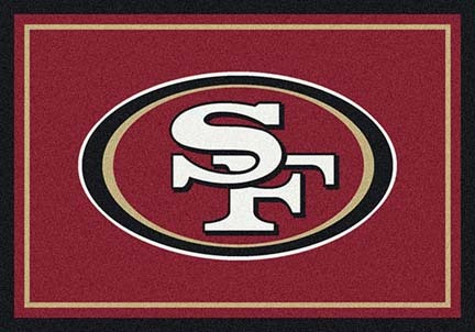 "San Francisco 49ers 5' 4"" x 7' 8"" Team Spirit Area Rug (Red)"