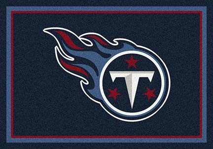Tennessee Titans 3 ft 10 in x 5 ft 4 in Team Spirit Area Rug (Navy Blue)