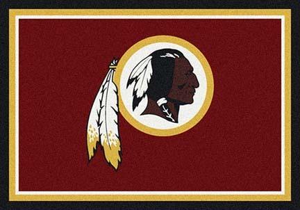 "Washington Redskins 5' 4"" x 7' 8"" Team Spirit Area Rug (Red)"