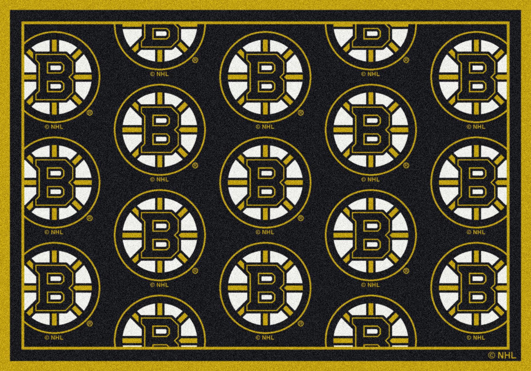 """Boston Bruins 7' 8"""" x 10' 9"""" Team Repeat Area Rug"""