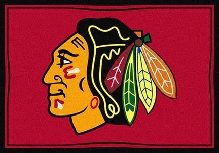 "Chicago Blackhawks 5' 4"" x 7' 8"" Team Spirit Area Rug"