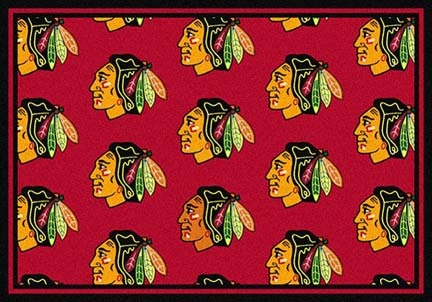 "Chicago Blackhawks 5' 4"" x 7' 8"" Team Repeat Area Rug"