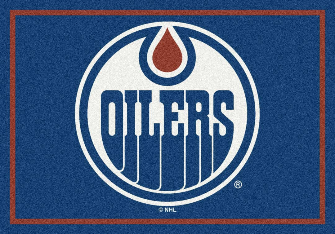 "Edmonton Oilers 2' 8"" x 3' 10"" Team Spirit Area Rug"