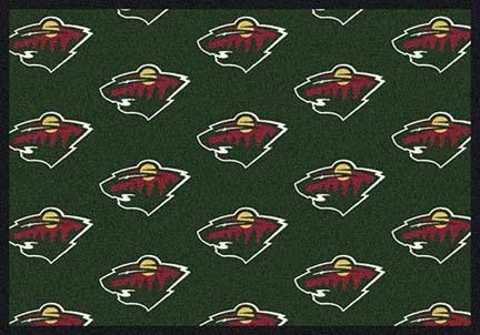 """Minnesota Wild 5' 4"""" x 7' 8"""" Team Repeat Area Rug"""