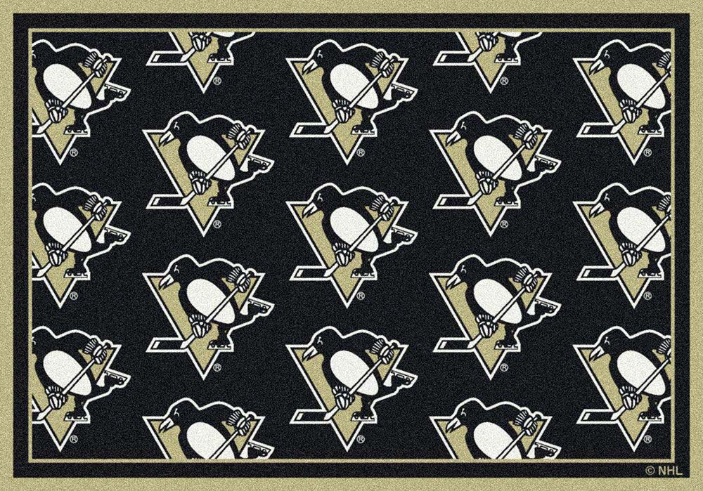 "Pittsburgh Penguins 7' 8"" x 10' 9"" Team Repeat Area Rug"