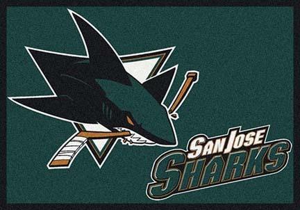 "San Jose Sharks 7' 8"" x 10' 9"" Team Spirit Area Rug"