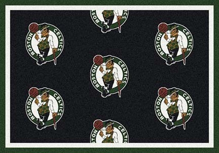 "Boston Celtics 5' 4"" x 7' 8"" Team Repeat Area Rug"