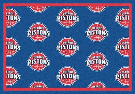 "Detroit Pistons 2' 1"" x 7' 8"" Team Repeat Area Rug Runner"