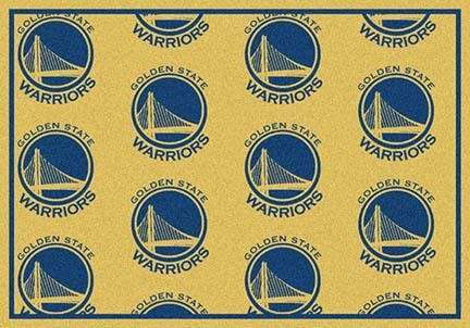 "Golden State Warriors 5' 4"" x 7' 8"" Team Repeat Area Rug"
