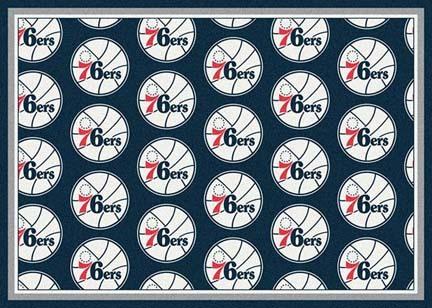 """Philadelphia 76ers 5' 4"""" x 7' 8"""" Team Repeat Area Rug"""