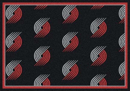 "Portland Trail Blazers 5' 4"" x 7' 8"" Team Repeat Area Rug"