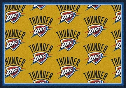"Oklahoma City Thunder 2' 1"" x 7' 8"" Team Repeat Area Rug Runner"