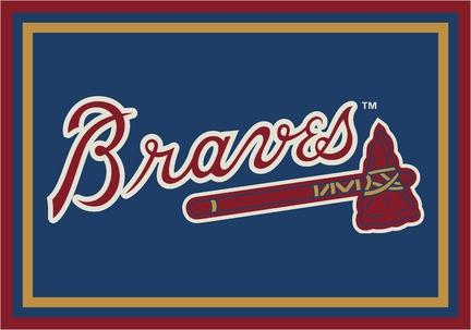 "Atlanta Braves 5' 4"" x 7' 8"" Team Spirit Area Rug"
