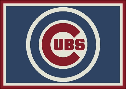 Chicago Cubs 3 ft 10 in x 5 ft 4 in Team Spirit Area Rug