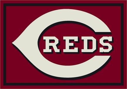"""Cincinnati Reds 7' 8"""" x 10' 9"""" Team Spirit Area Rug"""
