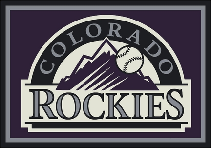"Colorado Rockies 7' 8"" x 10' 9"" Team Spirit Area Rug"