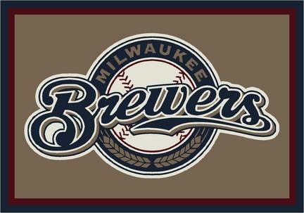 "Milwaukee Brewers 2'8"" x 3'10"" Team Spirit Area Rug"