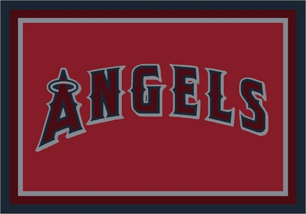 "Los Angeles Angels of Anaheim 2'8"" x 3'10"" Team Spirit Area Rug"