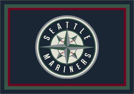 """Seattle Mariners 7' 8"""" x 10' 9"""" Team Spirit Area Rug"""