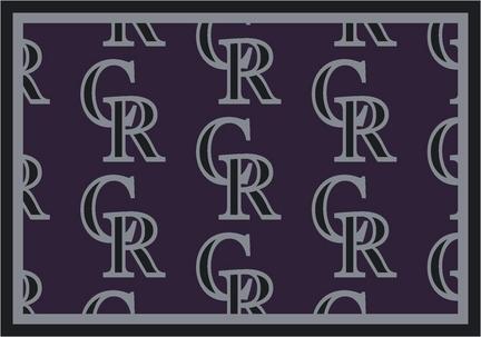 """Colorado Rockies 5' 4"""" x 7' 8"""" Team Repeat Area Rug"""