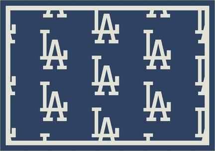 "Los Angeles Dodgers 5' 4"" x 7' 8"" Team Repeat Area Rug"