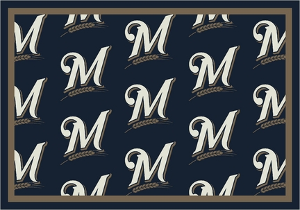 "Milwaukee Brewers 7' 8"" x 10' 9"" Team Repeat Area Rug"