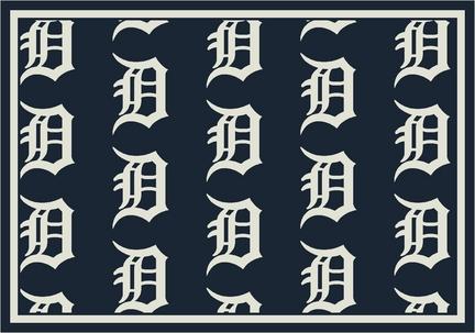 "Detroit Tigers 7' 8"" x 10' 9"" Team Repeat Area Rug"