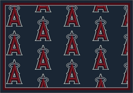 "Los Angeles Angels of Anaheim 5' 4"" x 7' 8"" Team Repeat Area Rug"