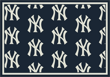 "New York Yankees 7' 8"" x 10' 9"" Team Repeat Area Rug"
