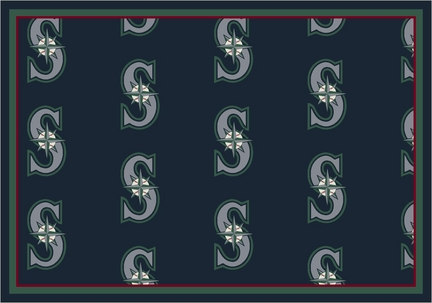 "Seattle Mariners 7' 8"" x 10' 9"" Team Repeat Area Rug"