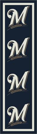 "Milwaukee Brewers 2' 1"" x 7' 8"" Team Repeat Area Rug Runner"