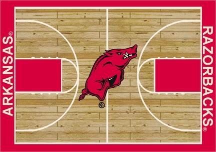 "Arkansas Razorbacks 5' 4"" x 7' 8"" Home Court Area Rug"
