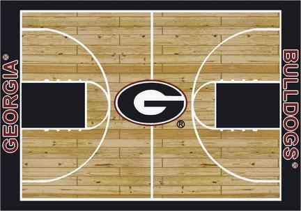 "Georgia Bulldogs 5' 4"" x 7' 8"" Home Court Area Rug"