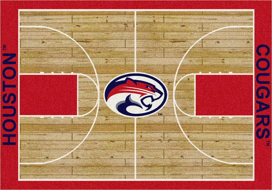 """Houston Cougars 5' 4"""" x 7' 8"""" Home Court Area Rug"""