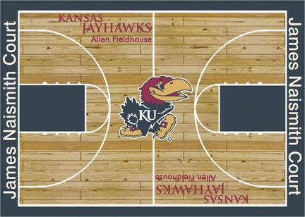 Kansas Jayhawks 7ft 8in x 10ft 9in Home Court Area Rug