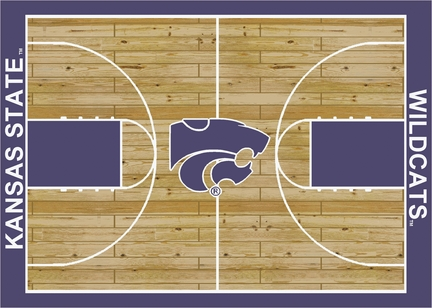 Kansas State Wildcats 7ft 8in x 10ft 9in Home Court Area Rug