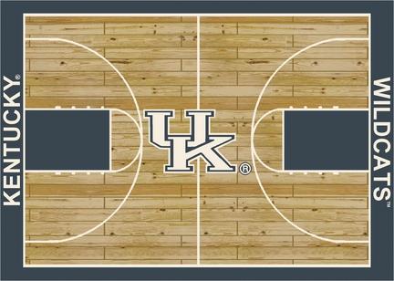Kentucky Wildcats 7ft 8in x 10ft 9in Home Court Area Rug