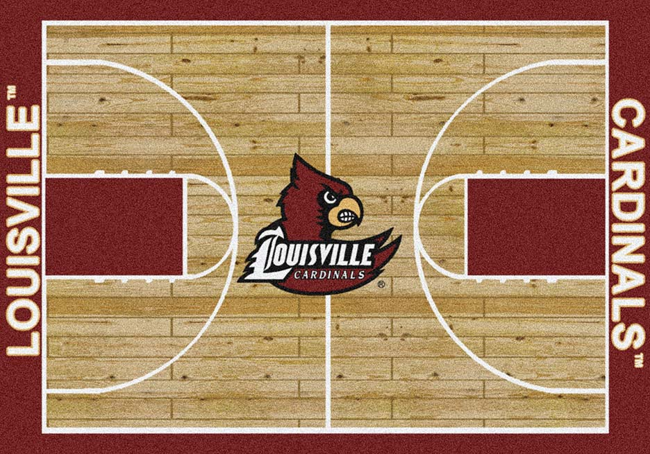 "Louisville Cardinals 7' 8"" x 10' 9"" Home Court Area Rug"
